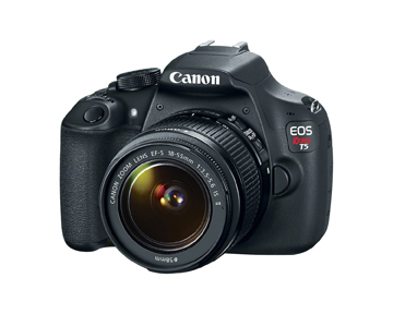The Canon Rebel T5 is ideal for entry-level digital SLR shooters