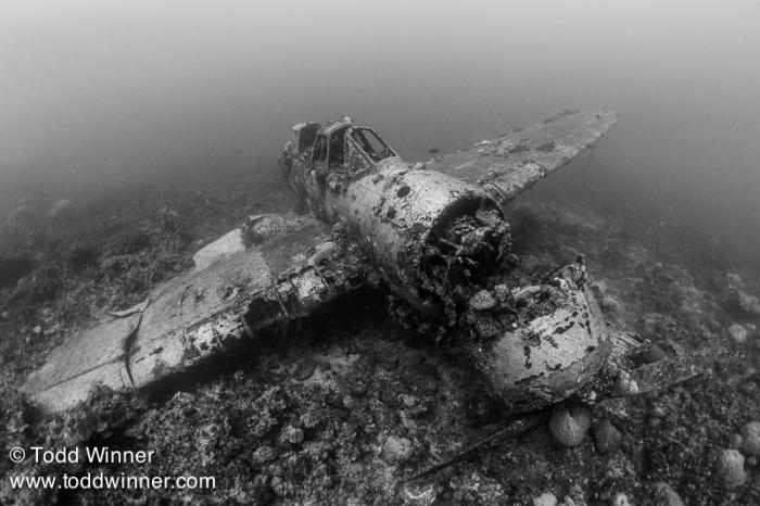 Establishing image of a Japanese float plane. Palau