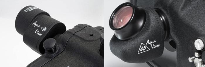 Aquatica 180º and 45º viewfinders
