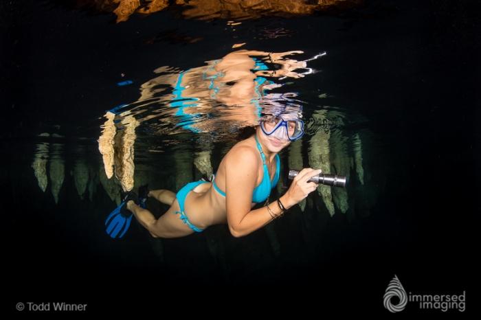 Chandelier Cave Girl